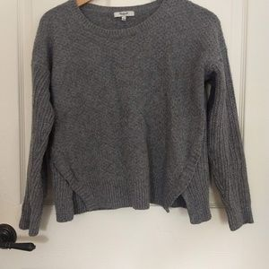 Grey cotton knit sweater